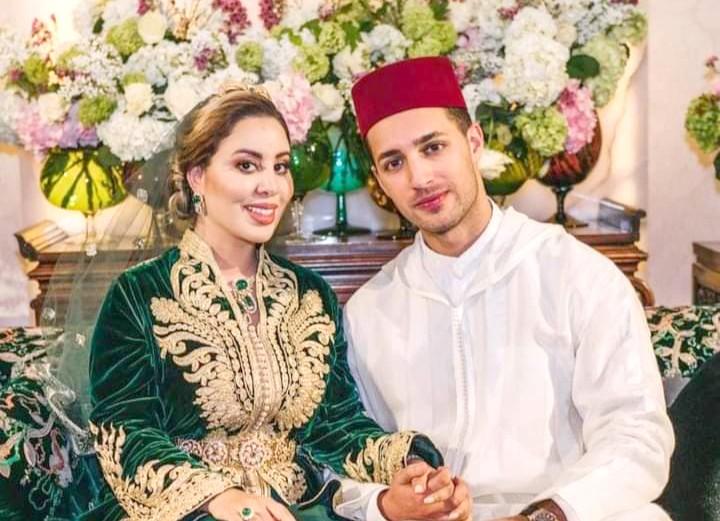 أول صورة خاصة بحفل قران 'لالة نهيلة' ابنة الأميرة لالة أسماء بالشاب عادل الحاجي