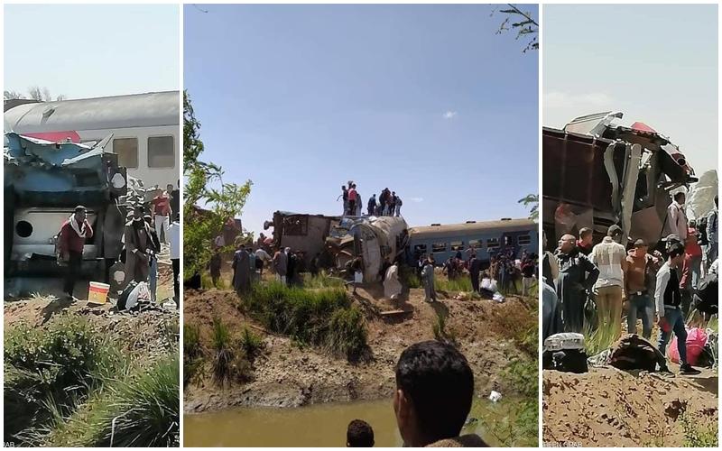 مأساة. وفاة 32 مصرياً وإصابة 66 آخرين في حادث إصطدام قطارين بالصعيد (فيديو)