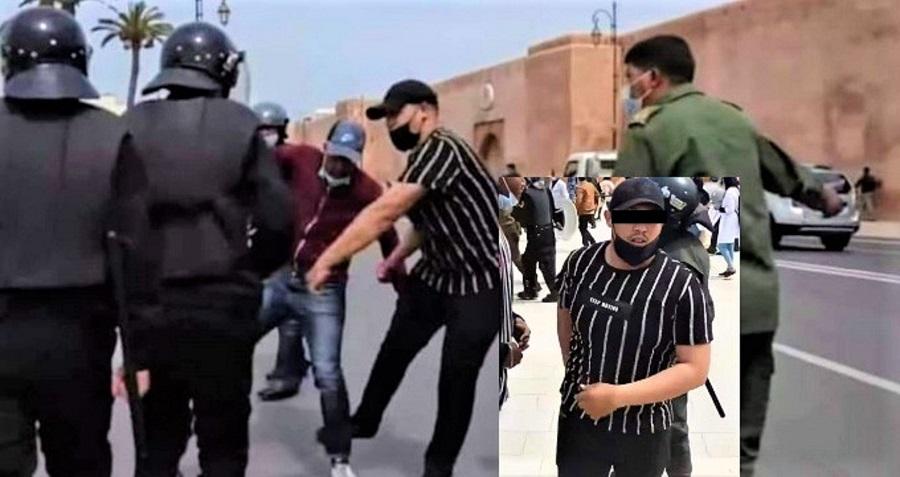 الشرطة القضائية تستدعي الأستاذ ضحية عون السلطة في احتجاج الرباط