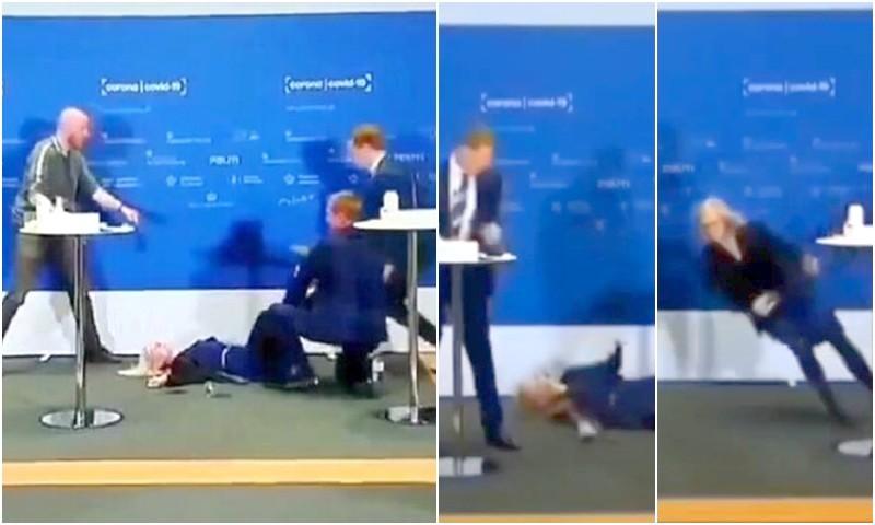 (فيديو) مسؤولة تفقد وعيها أثناء الإعلان عن تخلي الدنمارك عن لقاح أسترازينيكا!
