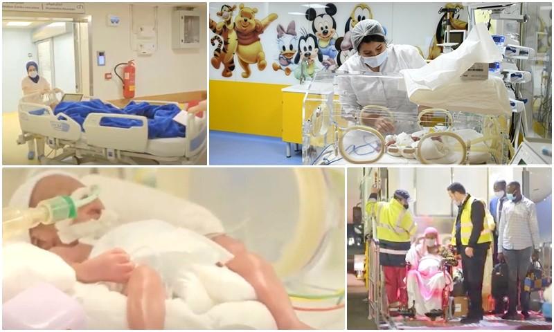 (صور + فيديو) عملية إخراجهم تطلبت 15 دقيقة.. هذه تفاصيل ولادة نادرة لـ9 توائم بالدار البيضاء