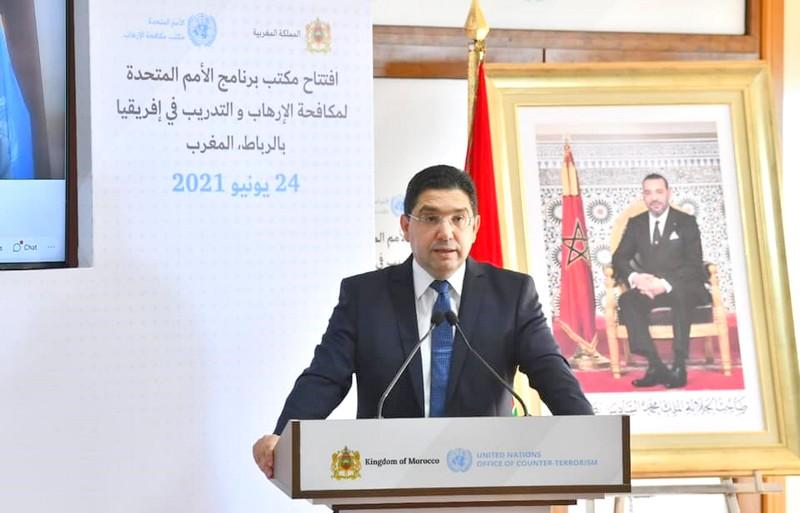 في افتتاح مكتب مكافحة الإرهاب الأممي بالرباط. بوريطة: التعاون الإقليمي والدولي ضرورة