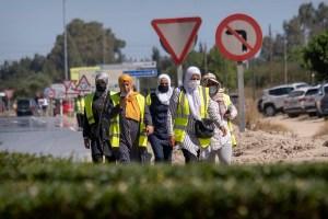 """المغرب يستقبل مئات من """"عاملات الفراولة"""" العائدات إلى أرض الوطن"""