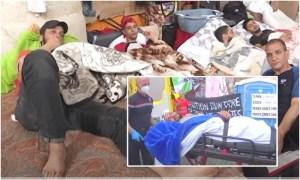 (فيديو) معظمهم مغاربة وجزائريون.. مخاوف من وفاة مهاجرين معتصمين في بلجيكا