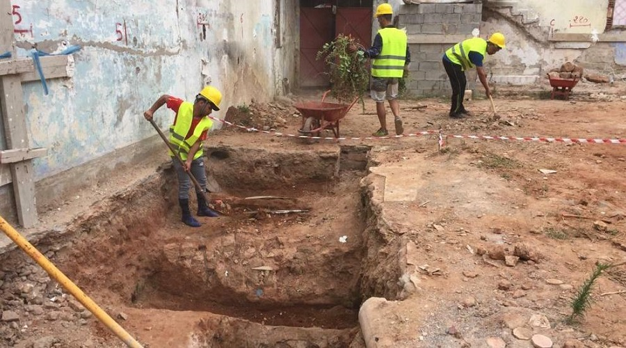 مخزن للسلع أو سجن قديم.. أشغال تهيئة تقود لاكتشاف بنيات أثرية بسلا