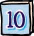 number ten on baby-blue book cover