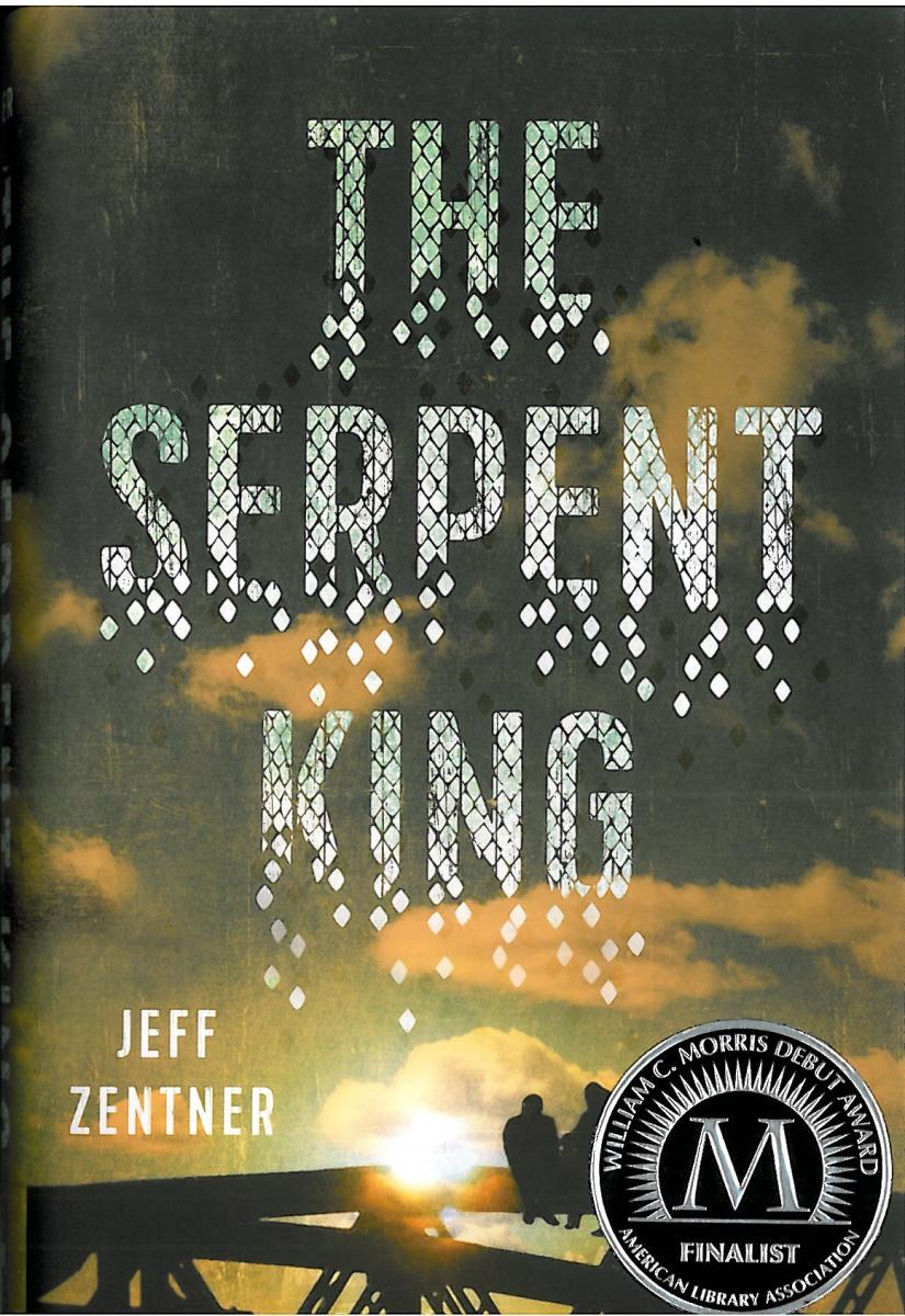 Book cover, The Serpent King