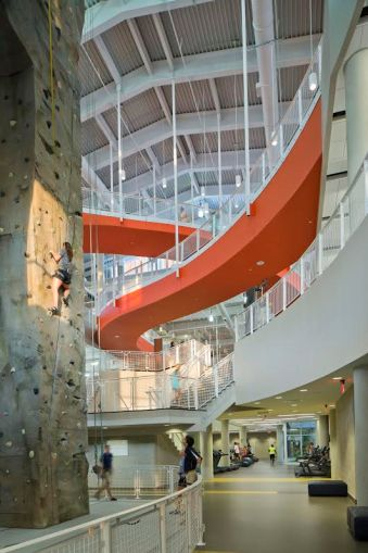 Alabama's own Robins & Morton provided construction services for Auburn's student recreation center. (Photo courtesy of HOK)