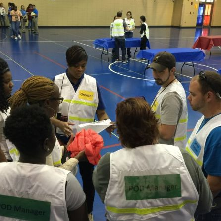 Police, fire and public health officials in Jefferson County participated in the exercise. (Chris Osborne/Alabama NewsCenter)