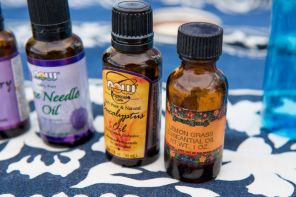 Gonzalez recommends a natural bug repellant made with natural oils. (Nik Layman/Alabama NewsCenter)