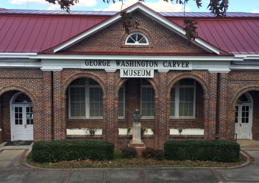 The George Washington Carver Museum is across from The Oaks. (Donna Cope/Alabama NewsCenter)