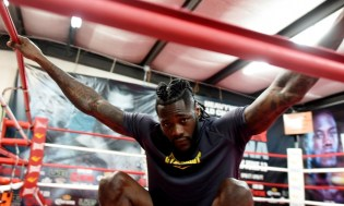 Deontay Wilder, at Skyy Gym in Northport, says he's pleased with his court victory this week and ready to win in the ring on Feb. 25. (Solomon Crenshaw Jr./Alabama NewsCenter)