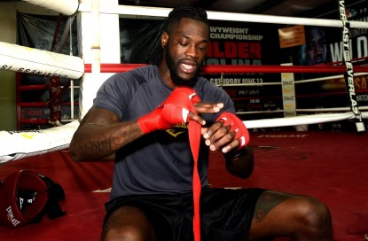 Deontay Wilder talks about his court victory this week and his upcoming bout with Gerald Washington. (Solomon Crenshaw Jr./Alabama NewsCenter)