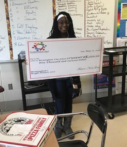 Wenonah High School student Alexus Dunn is a Fusion NextGen finalist. (Brittany Faush-Johnson/Alabama NewsCenter)