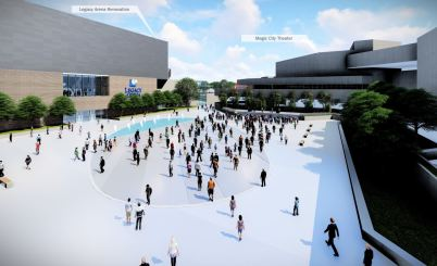 Proposed renovations to the BJCC's plaza. (Populous)