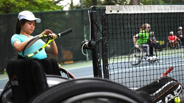 Birmingham's Lakeshore Foundation hosts young tennis players for Junior Wheelchair Camp