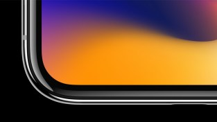 The Super Retina display employs new techniques and technology to precisely follow the curves of the design, all the way to the rounded corners. (Apple Inc.)