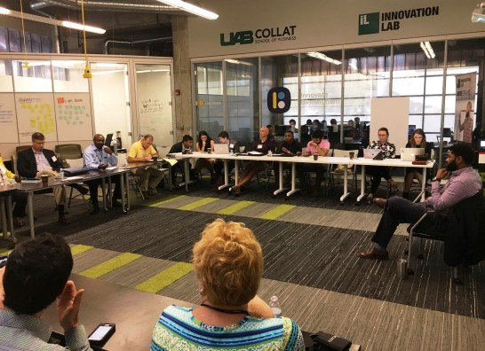 The e.Builders Forum in Birmingham drew tech entrepreneurs from around the country for two days of workshops, roundtable discussions and networking opportunities. (Mark Kelly / Alabama NewsCenter)