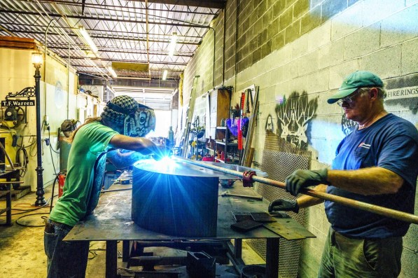 Many of the fire pits created at Alabama Iron Works are one of a kind. (Mark Sandlin / Alabama NewsCenter)