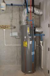 A heat pump water heater with 350 percent efficiency. (Karim Shamsi-Basha / Alabama NewsCenter)