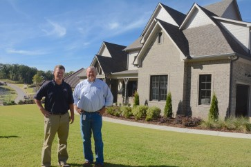 Builder Kyle Murphy and Alabama Power Market Specialist Chad Garretson say the 2017 Birmingham Home and Garden Inspiration Home combines style and up-to-the minute energy efficiency features. (Karim Shamsi-Basha / Alabama NewsCenter)