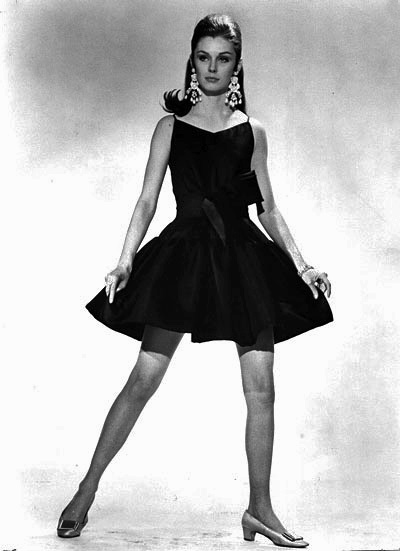 This Bianchini black silk dress was one of Charles Kleibacker's best-selling designs in 1968. The dress was featured in the book New York Fashion that same year. (From Encyclopedia of Alabama, Charles Kleibacker Collection, Kent State University, School of Fashion Design and Merchandising)