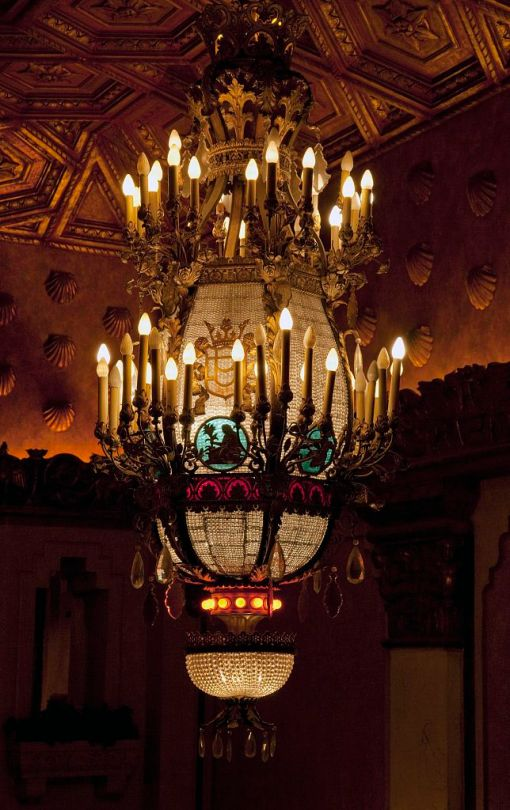 Chandelier, Alabama Theatre, Birmingham, 2010. (The George F. Landegger Collection of Alabama Photographs in Carol M. Highsmith's America, Library of Congress, Prints and Photographs Division)