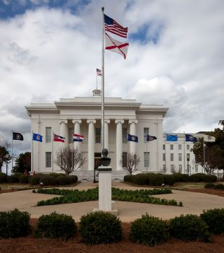 Capitol building, Montgomery, 2010. (The George F. Landegger Collection of Alabama Photographs in Carol M. Highsmith's America, Library of Congress, Prints and Photographs Division)