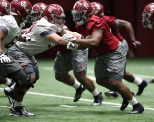 Coach Nick Saban said he's pleased with his team's preparations for the Sugar Bowl game with No. 1 Clemson. (Kent Gidley / University of Alabama Athletics)