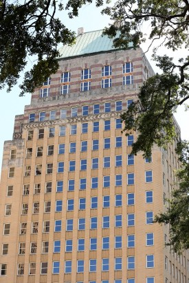 Merchants Plaza, pictured Friday, Sept. 1, 2017, is a $30 million rehabilitation project in downtown Mobile, Ala., that occupies an entire city block. (Mike Kittrell/Alabama NewsCenter)
