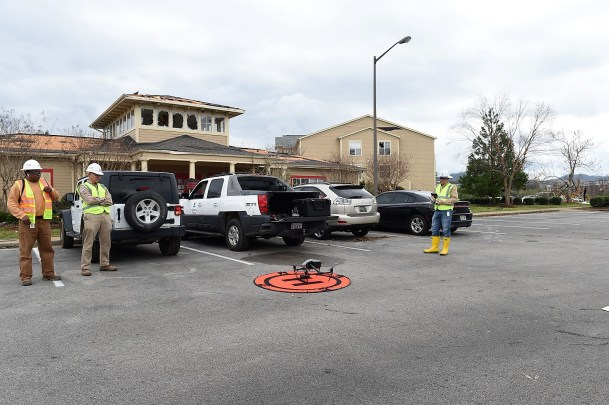 Alabama Power uses drones to assess damage in hard-to-reach areas. (Wynter Byrd / Alabama NewsCenter)