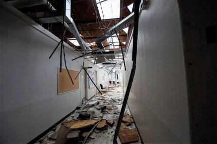 Jacksonville State University had a number of buildings damaged. (Wynter Byrd / Alabama NewsCenter)