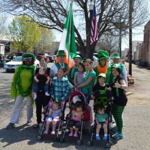 Some of the participants in the Enterprise St. Patrick's Day Parade pose for the camera. (Brittany Faush/Alabama NewsCenter)