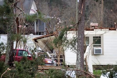 Storm damage near Ashville. (Dennis Washington / Alabama NewsCenter)