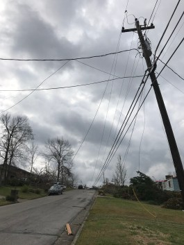 Several neighborhoods in Jacksonville saw storm damage to homes and electric utilities. (Jacki Lowry / Alabama NewsCenter