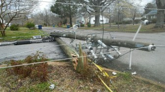 The storm damage was extensive in Jacksonville. (Phil Free / Alabama NewsCenter)