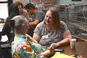 Catherine Findley brought Cyber-Seniors to the CJSF and other Birmingham elderly communities. (Karim Shamsi-Basha / Alabama NewsCenter)
