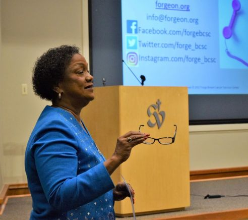 Brown is grateful that her cancer treatment was successful, and wants to advocate for other women. (Donna Cope/Alabama NewsCenter)