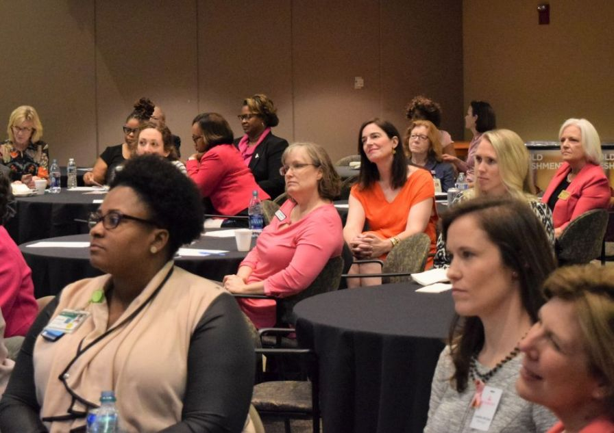 Health-care professionals listened with great interest. (Donna Cope/Alabama NewsCenter)