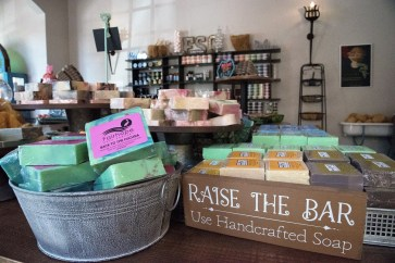 Bar soaps are what got Deborah Bruijn started in what became Fairhope Soap Co. (Brittany Faush / Alabama NewsCenter)