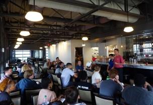 Chef Dean Robb leading staff training at Blueprint on 3rd June 7. (Erin Harney/ Alabama NewsCenter)
