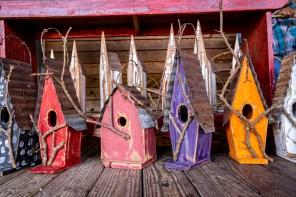 McCall's bird houses have found a perch at art festivals and galleries. (Mark Sandlin/Alabama NewsCenter)