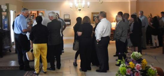 The large number of well-wishers who turned out for Vincent Oliver's visitation were indicative of his importance to the Woodlawn and greater Birmingham community. (Solomon Crenshaw Jr. / Alabama NewsCenter)