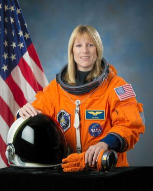 """Portrait of astronaut Kathryn P. """"Kay"""" Hire, mission specialist, 2009. (Photograph by Bill Stafford, NASA, Wikipedia)"""
