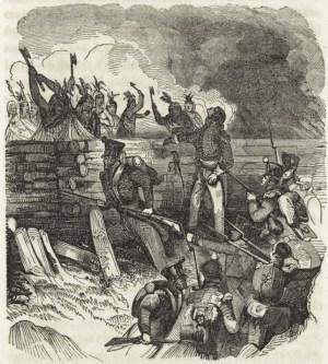 Battle of Horseshoe Bend (Tohopeka), Creek War, present-day southern Alabama. (The New York Public Library, Wikipedia)