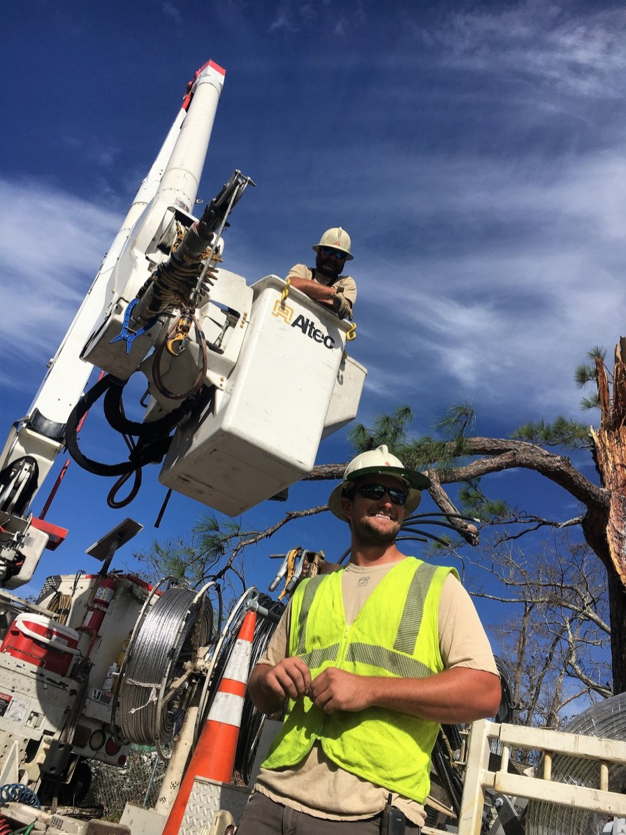 Hurricane Michael left a path of destruction that requires much hard work from Alabama Power and other utility companies providing assistance. (John Paul Jones)