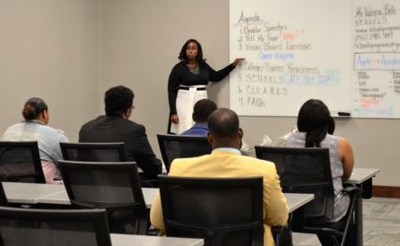 Presenters shared tips to help prepare the students with important life skills. (Michael Tomberlin / Alabama NewsCenter)