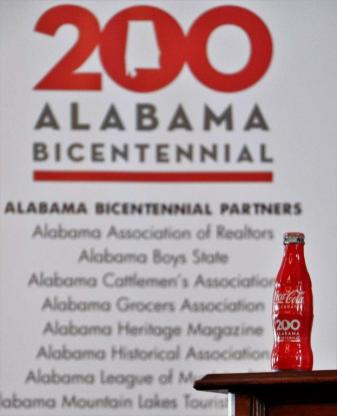 Gov. Kay Ivey led the celebration of Alabama's 199th birthday and kicked-off the year-long celebration leading up to the 200th. Coca-Cola introduced a commemorative bottle for the bicentennial. (contributed)