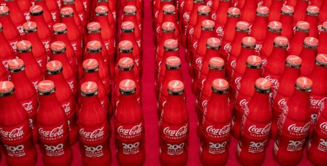 Coca-Cola introduced a commemorative bottle for the bicentennial. (Hal Yeager/Governor's Office)