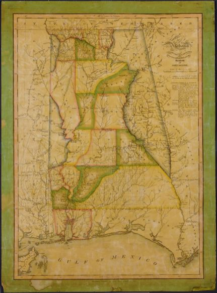 Map of Alabama, 1829. (John Melish, Library of Congress, Geography and Map Division)